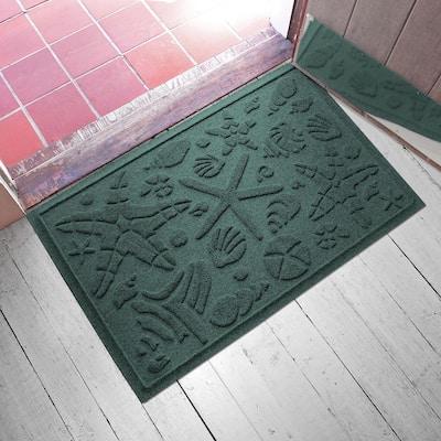 Beachcomber 23 in. x 35 in. PET Polyester Doormat Evergreen