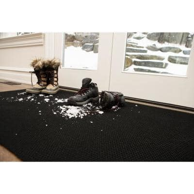 Recycled Rugged All-Weather Textile 4 ft. x 6 ft. Grey Entry and Garage Mat