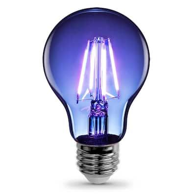 25-Watt Equivalent A19 Medium E26 Base Dimmable Filament Blue Colored LED Clear Glass Light Bulb