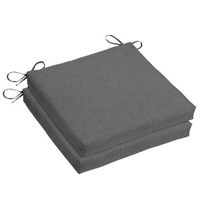 Woodbury 18 x 18 Sunbrella Cast Slate Outdoor Dining Chair Cushion (2-Pack)