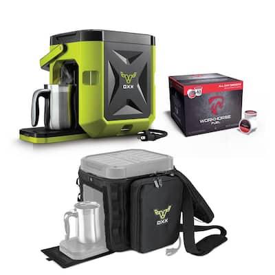 COFFEEBOX High Viz Green Single Serve Coffee Maker with Accessory Kit
