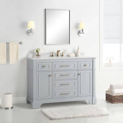 Gray Bathroom Vanities Bath The Home Depot