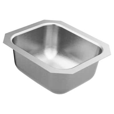 1800 Series Stainless Steel 14.5 in. Single Bowl Undermount Kitchen Sink
