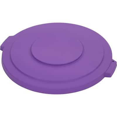 Bronco 32 Gal. Purple Round Trash Can Lid (4-Pack)