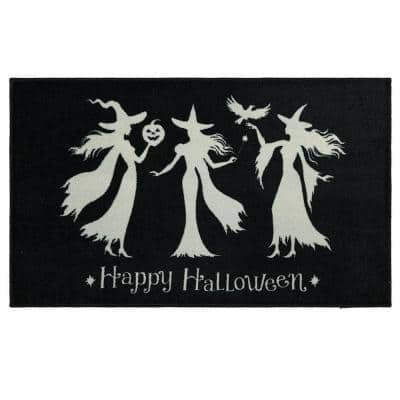 Witch Trio Black 2 ft. 6 in. x 4 ft. 2 in. Holiday Area Rug