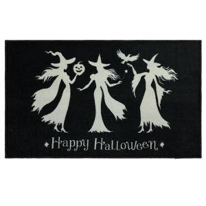 Witch Trio Black 2 ft. 6 in. x 4 ft. 2 in. Halloween Indoor Area Rug