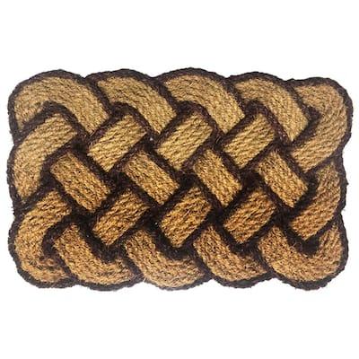 Rope Natural/Brown 18 in. x 30 in. Coir Door Mat