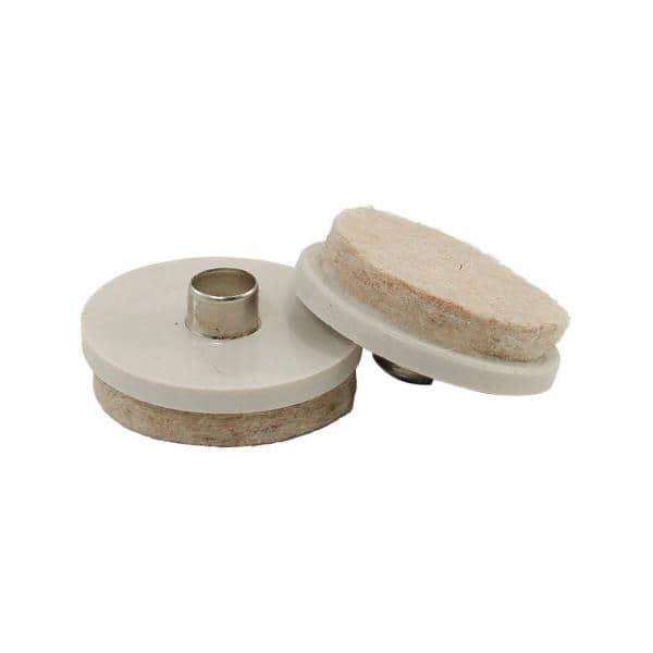 Nail On Glides With Felt Pads 20, Pads For Furniture Legs Home Depot