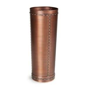Unique Tall Riveted Copper Planter for Outdoor or Indoor Use, Garden, Deck, and Patio