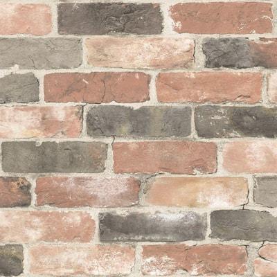 Newport Reclaimed Brick Vinyl Peel & Stick Wallpaper Roll (Covers 30.75 Sq. Ft.)