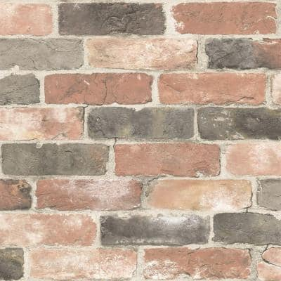Newport Reclaimed Brick Red Wallpaper Sample
