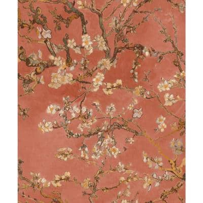 Almond Blossom Bold Rose Floral Paper Strippable Wallpaper Roll (Covers 57 Sq. Ft.)