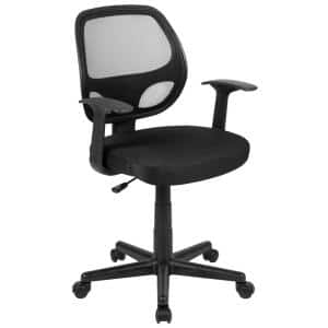24.8 in. Width Big and Tall Black Mesh Task Chair