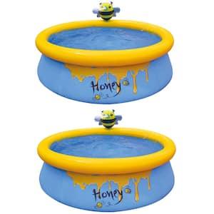 5 ft. Round 16.5 in. D Bee Spray Inflatable Kiddie Pool (2-Pack)
