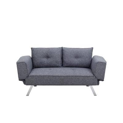 Montauk Convertible Sofa in Charcoal