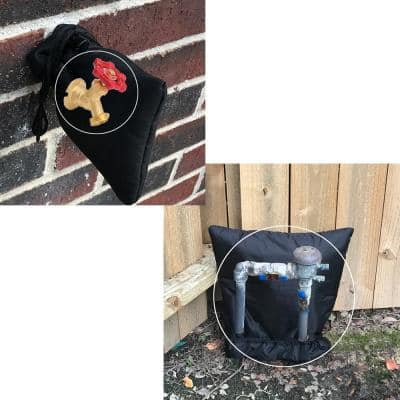 No Freeze Outdoor Freeze Protection Cover/Sock, 3M Thinsulate Insulation 2 Pc Small 6 in. x 7 in. and XL 24 in. x 24 in.