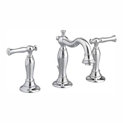 Quentin 8 in. Widespread 2-Handle Mid-Arc Bathroom Faucet in Polished Chrome
