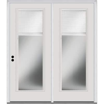 72 in. x 80 in. Full Lite Primed Steel Stationary Patio Glass Door Panel