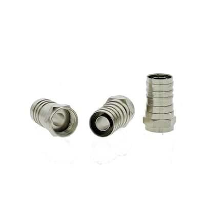 RG-6 Crimp F-Connectors (Standard Package, 3-Packs of 10)