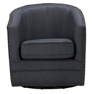 Porter Contemporary Gray Fabric Upholstered Accent Chair