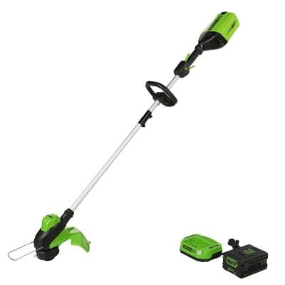 PRO 13 in. 60-Volt Battery Cordless TORQDRIVE Brushless String Trimmer with 2.0 Ah Battery and Charger