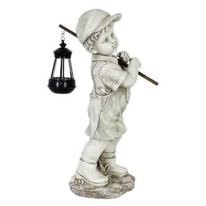 Solar Boy with Lantern Garden Statue