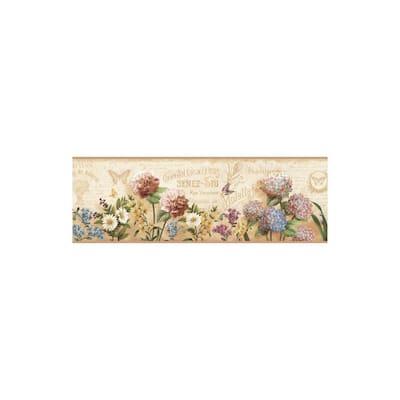 Poste Cream Springtime Trail Gold Wallpaper Border