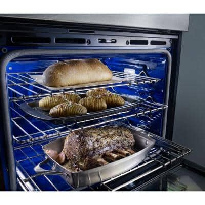 30 in. Electric Even-Heat True Convection Wall Oven with Built-In Microwave in Stainless Steel