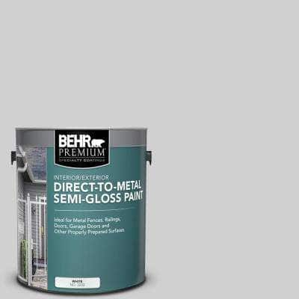 1 gal. #N520-1 White Metal Semi-Gloss Direct to Metal Interior/Exterior Paint
