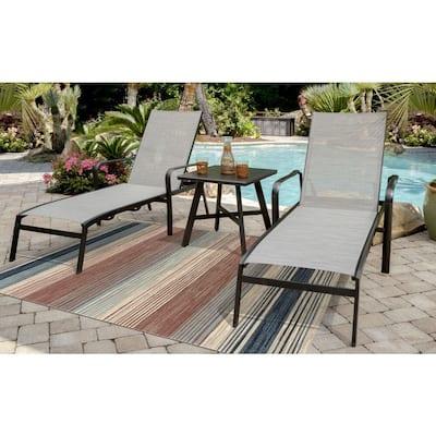 Multi-Color Stripe 4 ft. x 6 ft. Indoor/Outdoor Area Rug
