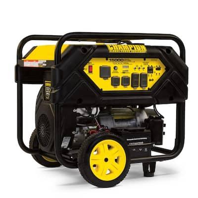 15,000/12,000-Watt Gasoline Powered Electric Start Portable Generator