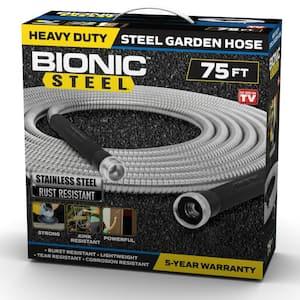 1/2 in. Dia x 75 ft. Heavy-Duty Stainless Steel Garden Hose