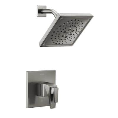 Trillian TempAssure 1-Handle Wall-Mount Shower Trim Kit in Black Stainless (Valve not Included)