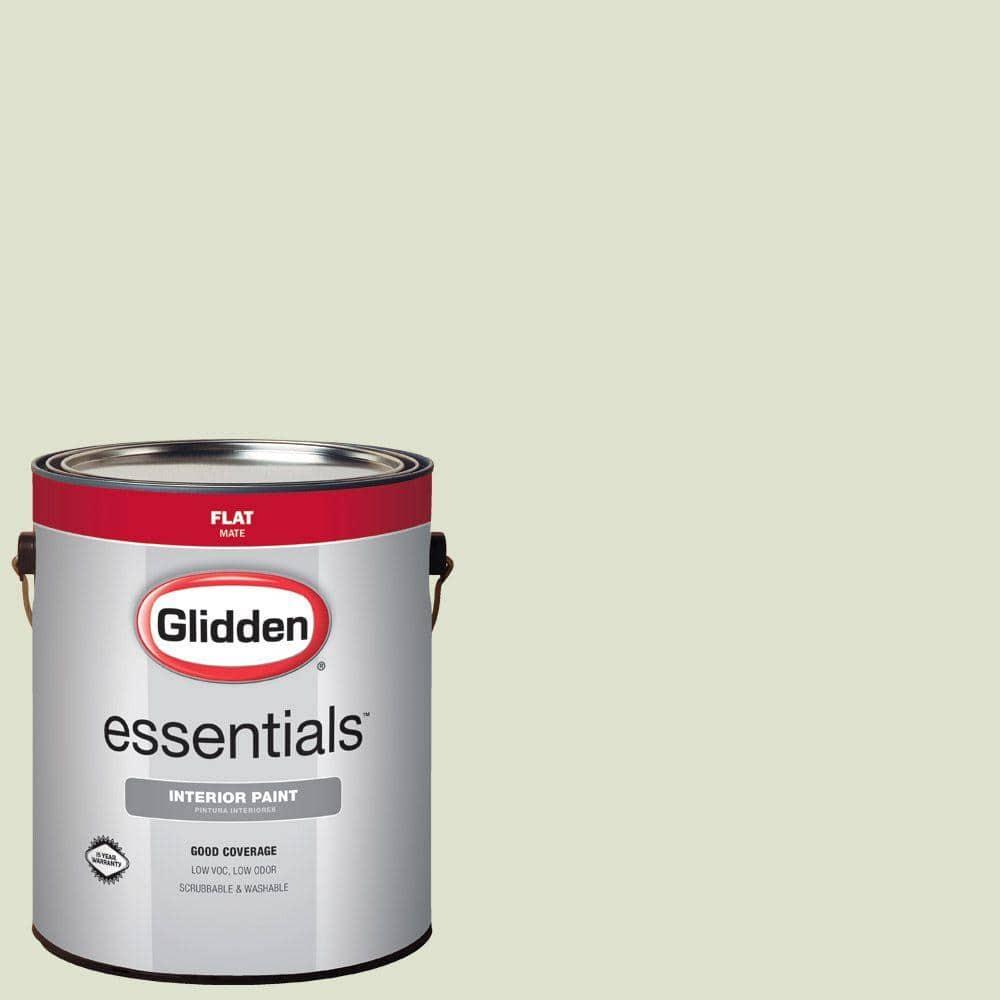 Glidden Essentials 1 Gal Hdgg48 Pale Pistachio Flat Interior Paint Hdgg48e 01fn The Home Depot