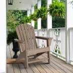 Tan HDPE Plastic Adirondack Chair