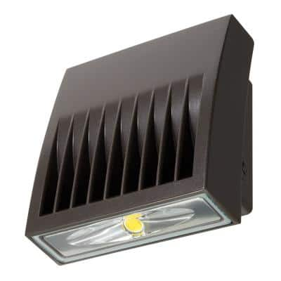Crosstour Carbon Bronze Outdoor Integrated LED Wall Pack and Area Security Light at 1418 Lumens with Full Cutoff Lens