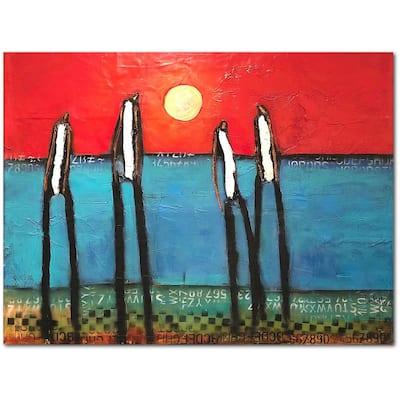 William DeBilzan Beach Boys 30 in. x 40 in. Gallery-Wrapped Canvas Wall Art