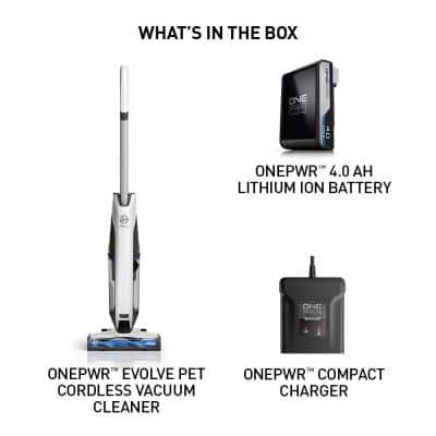 ONEPWR Evolve Pet Cordless, Bagless Upright Vacuum Cleaner with Lithium Ion Battery