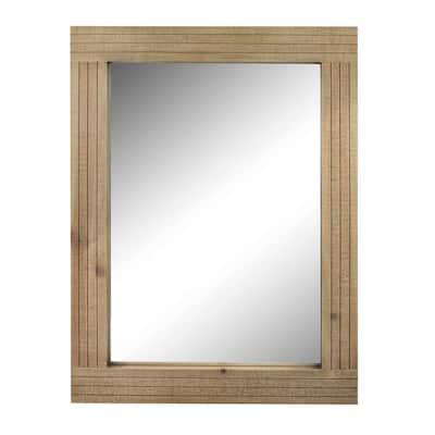 Medium Rectangle Brown Casual Mirror (24.16 in. H x 18.11 in. W)