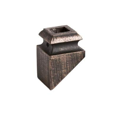Square Hole 1.3125 in. Aluminum Angled Shoe Baluster Shoe Oil Rubbed Bronze