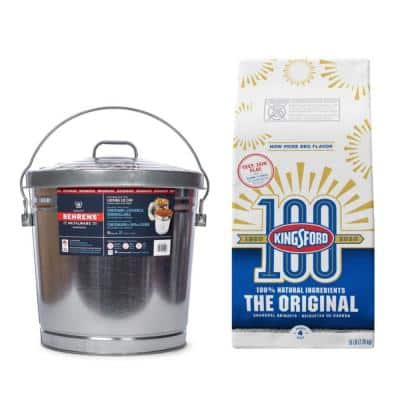 16 lbs. Original Charcoal Briquettes and 10 Gal. Garbage Pail with Lid