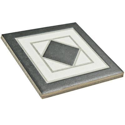 Vanity Blanco 4-1/4 in. x 4-1/4 in. Porcelain Corner Floor and Wall Trim Tile