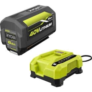40V Lithium-Ion 6.0 Ah High Capacity Battery and Rapid Charger Kit