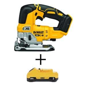 20-Volt MAX XR Cordless Brushless Jigsaw with (1) 20-Volt Battery 3.0Ah