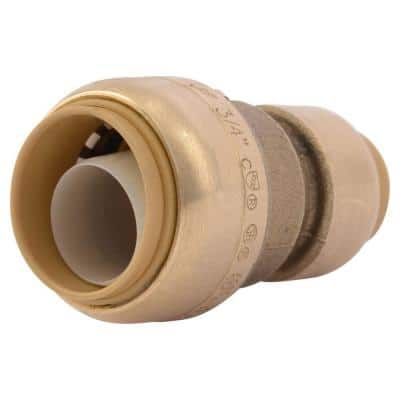 3/4 in. x 1/2 in. Push-to-Connect Brass Reducing Coupling Fitting