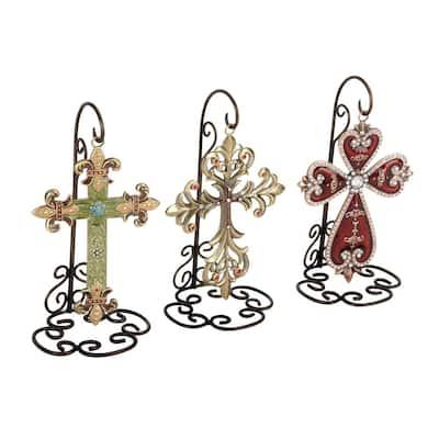5 in. x 7 in. Metal Cross (3-Pack)