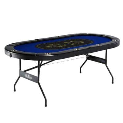 10-Player Blue Poker Table