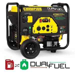 4750/3800-Watt Gas and Propane Dual Fuel Powered Portable Generator