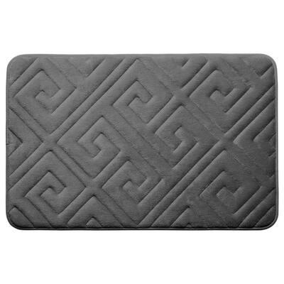 Caicos Dark Gray 20 in. x 32 in. Memory Foam Bath Mat
