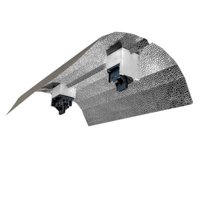18 in. Double Ended DE Basic Wing Grow Light Reflector with Socket and Cord for up to 1000-Watt